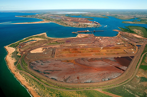 Iron ore miners wait to evaluate damage from cyclone Christine