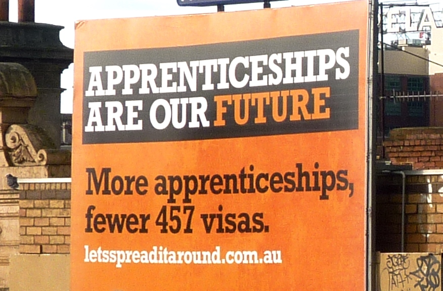 Report reveals crisis in Australian apprenticeships