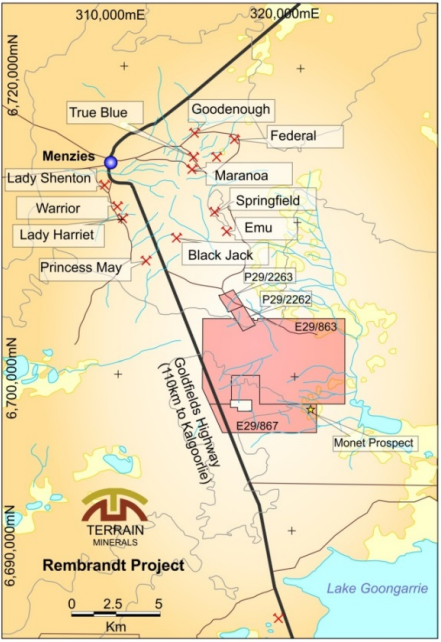 Terrain Minerals to exercise the option to acquire Rembrandt Gold Project
