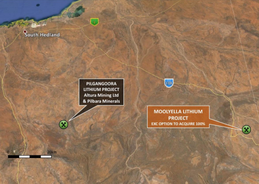 Exterra Resources announced grant of exploration license at Moolyella Lithium Project