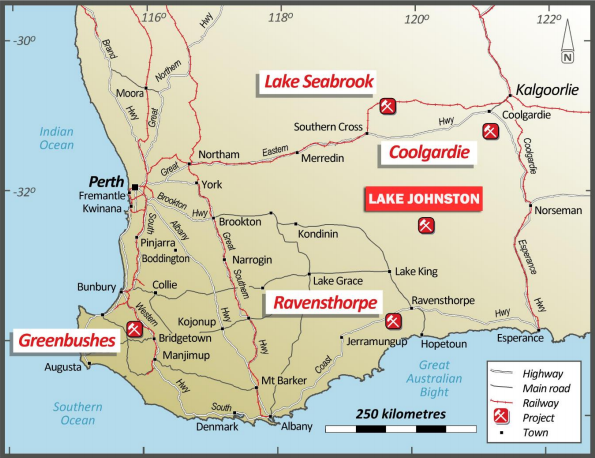 USH and Lithium Australia complete strategic consolidation of Lake Johnson tenements