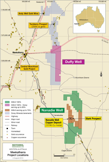 Doray to drill 3,500m aircore program at Duffy Well JV