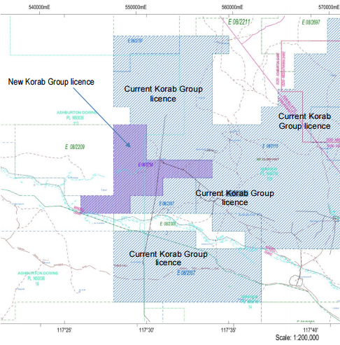 Korab Resources granted new exploration licence at Mt Elephant/Ashburton Downs project
