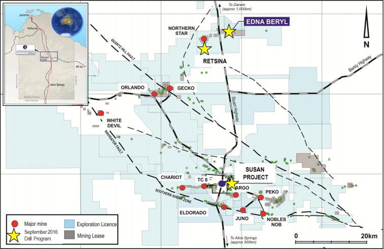 Emmerson Resources commences major drill campaign at Edna Beryl high-grade gold project