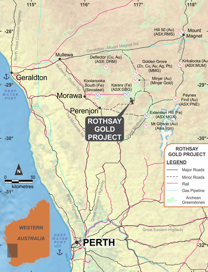 EganStreet Resources: Diamond drill rig mobilises to the Rothsay Gold Project in WA