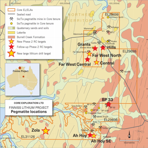 Core Exploration: Phase 2 RC drilling underway at Finniss Lithium Project