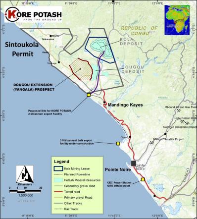 Kore Potash commences drilling activities in Kongo