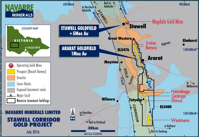 Navarre Minerals commences drilling at Irvine Gold Prospect