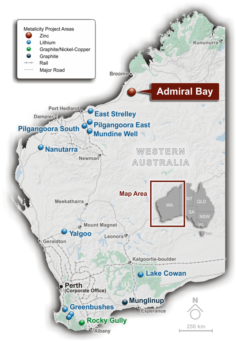 Metalicity commences PFS on Admiral Bay Zinc Project, considers introducing JV partner